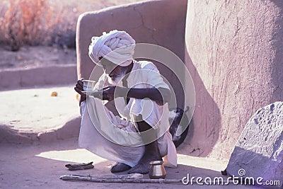 Desert village life, Jaisalmer, India Editorial Photo