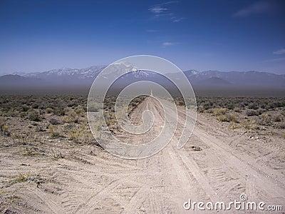 Desert Vista on dirt road