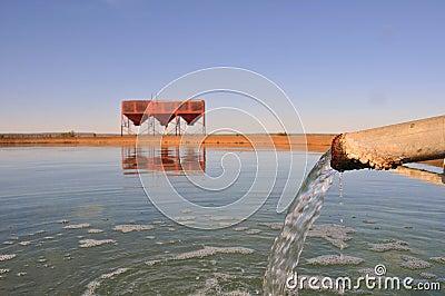 Desert water reservoir