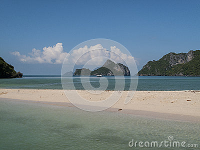 Deserted beach in the gulf of thailand