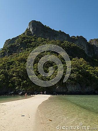 Deserted beach in the gulf of thailand