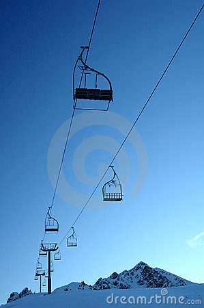 Free Deserted Chair Lift Stock Images - 1793814
