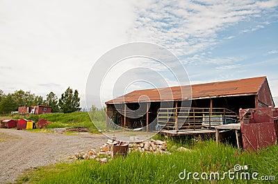 Deserted farm house