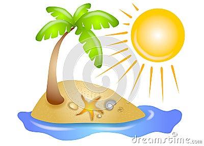 Deserted Island Beach Sun
