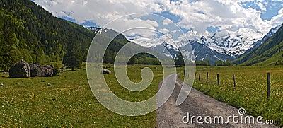 Deserted mountain road