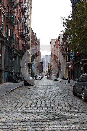 Deserted NYC Street After Hurricane Sandy Editorial Image