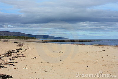 Deserted Scottish Beach