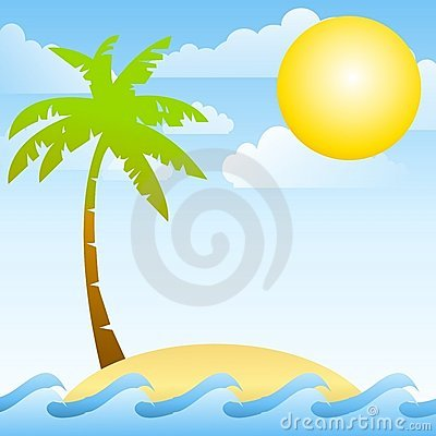 Deserted Tropical Ocean Island