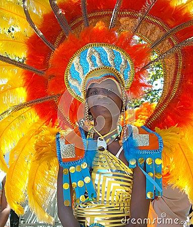 Desfile de carnaval de las Antillas Imagen editorial