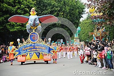 Desfile de Disney en Hong-Kong Imagen de archivo editorial