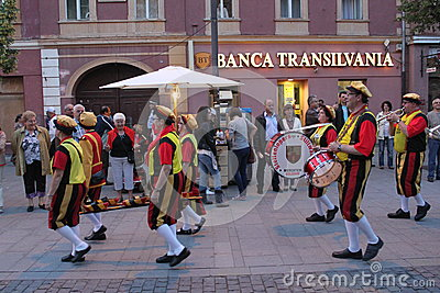 Desfile de la calle Foto de archivo editorial
