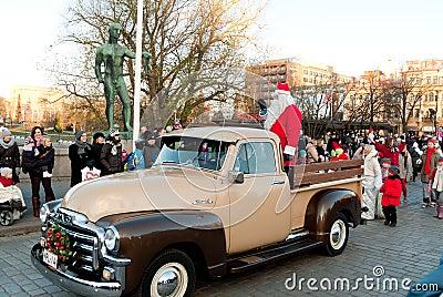 Desfile de la Navidad Foto editorial