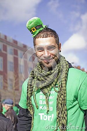 Desfile del día del St. Patricks Fotografía editorial