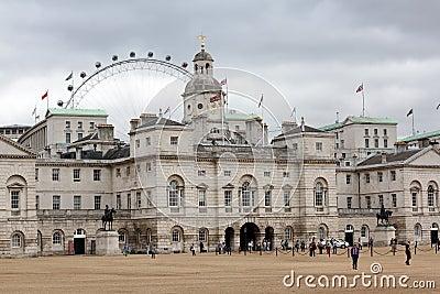 Desfile Londres Inglaterra de los protectores de caballo Foto editorial