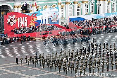 Desfile militar de la victoria. Fotografía editorial