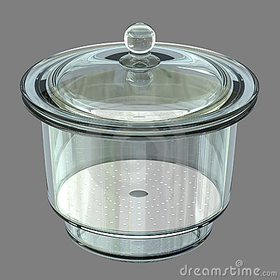 Desiccator on Grey Background