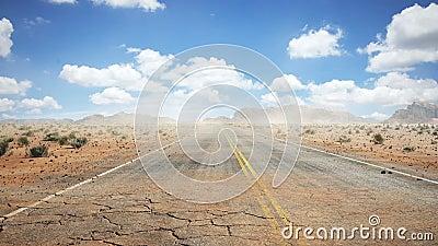 Desierto del camino metrajes