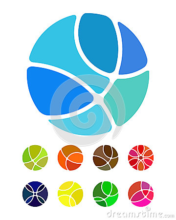 Design abstract round logo element