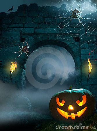 Free Design Background For Halloween Party Royalty Free Stock Images - 21482709