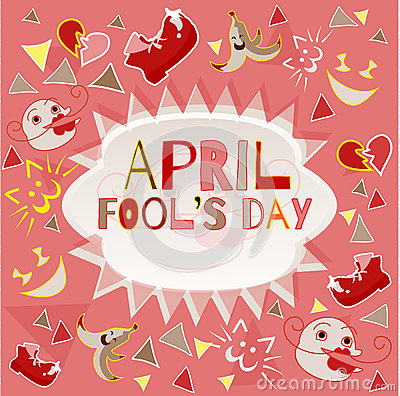 Design banner with april fool`s day logo Vector Illustration