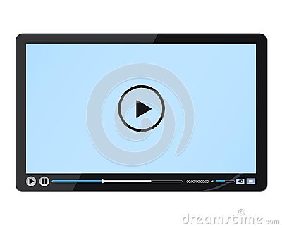 Design black media player