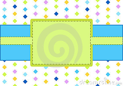 Design blue and green frame