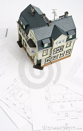 Design for a building and mock-up of future house