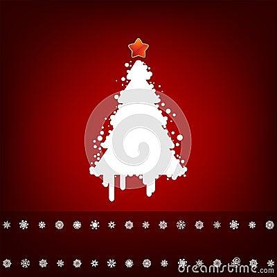 Design with christmas tree. EPS 8