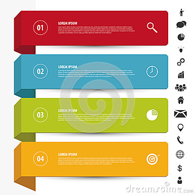 Free Design Clean Banners Template. Infographics Vector With Icons Royalty Free Stock Photography - 45858967