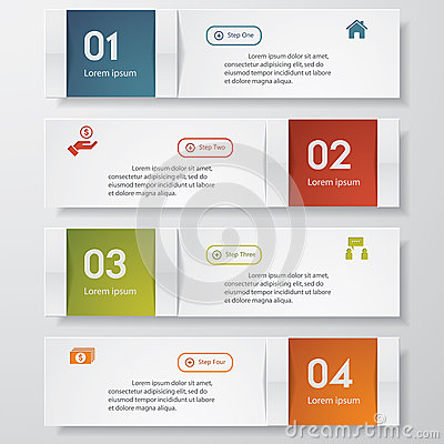 Design clean number banners template Vector Illustration