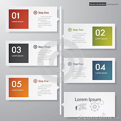 Design clean number banners template timeline royalty for Pr timeline template