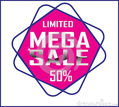 Free Design Colorful Mega Sale Offer 50 Web Button White Background Royalty Free Stock Photos - 122160278
