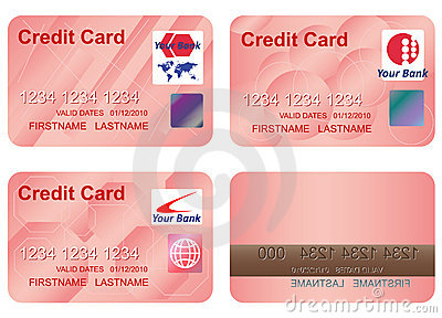 Design of a credit card.