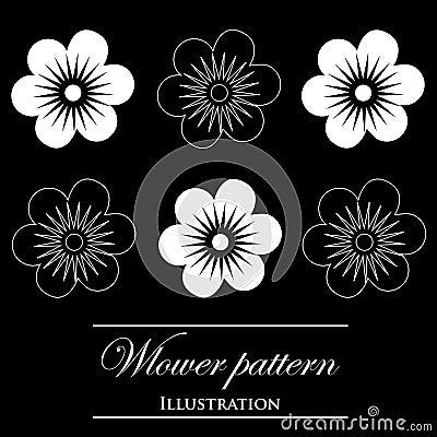 Design element on a black background