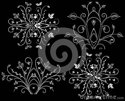 Design element on a black background