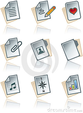 Free Design Elements 43a. Paper Works Icons Set Royalty Free Stock Photography - 1388547