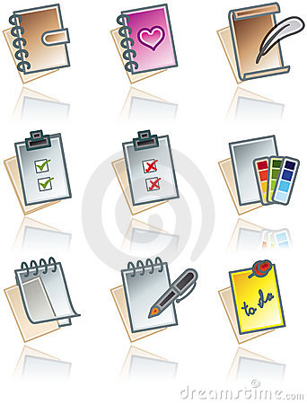 Free Design Elements 43c. Paper Works Icons Set Royalty Free Stock Photo - 1388545