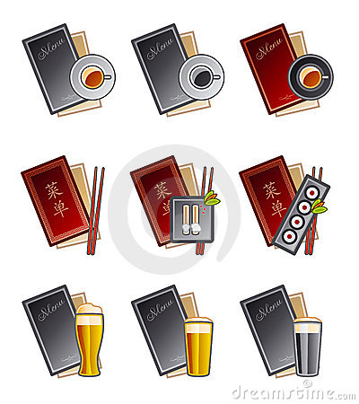Free Design Elements 47. Menu Icons Set Stock Image - 1461761
