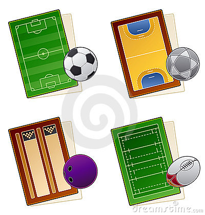 Free Design Elements 49a. Sportfields Icon Set Royalty Free Stock Photography - 1505767