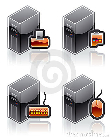 Design Elements 51e. Internet Computer and Software Icons Set