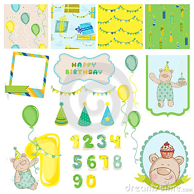 Design Elements - Birthday Baby Bear