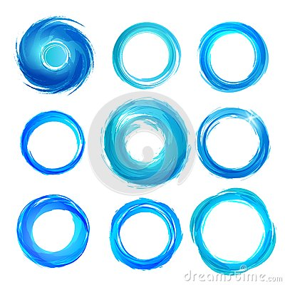 Design elements in blue colors icons. Set 5