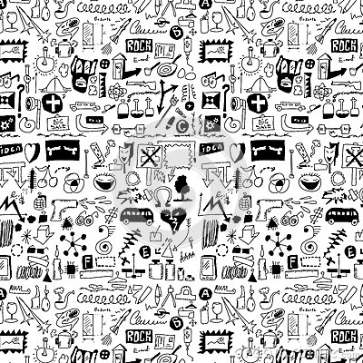 design elements doodle icons, hand drawn