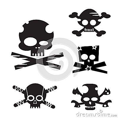 Design Elements Funny Skulls