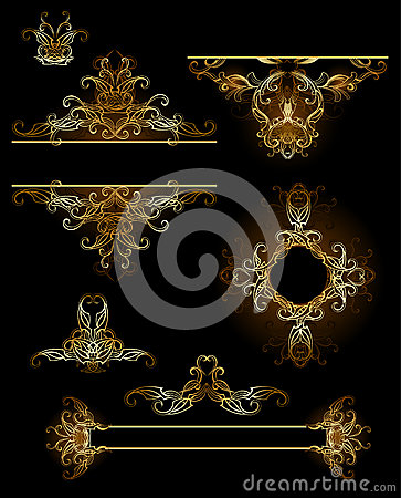 Design elements in gold