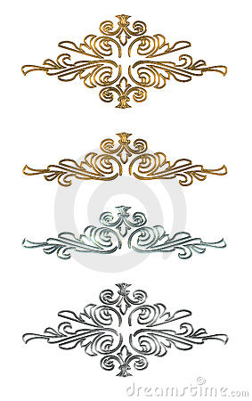 Design elements Gold and silver