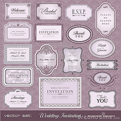 Design elements for invitations