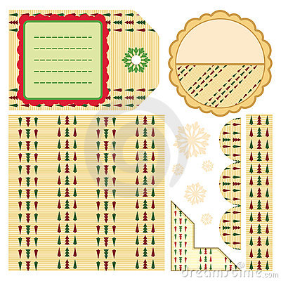 Design elements for scrapbook - beige