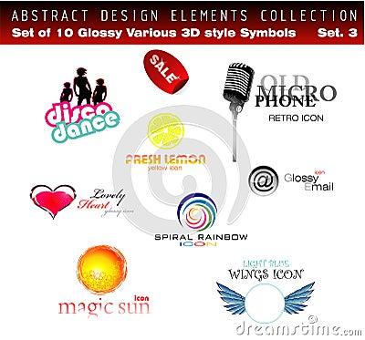Free Design Elements - Set 3 Stock Photo - 9523640