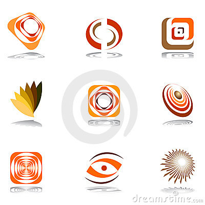 Design elements in warm colors.